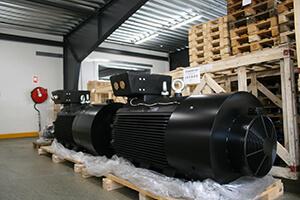 externe chladenie elektromotory